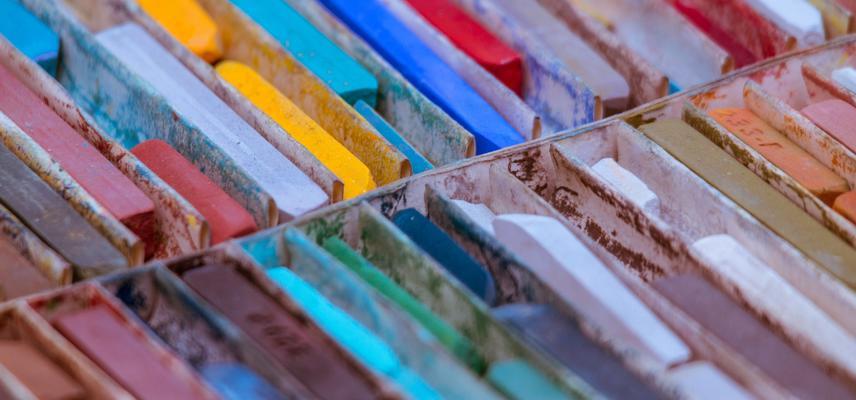 art in the garden oil pastels